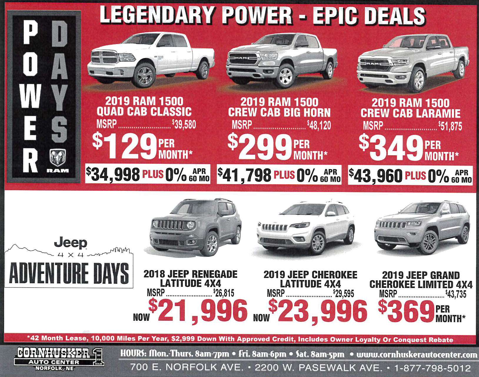 Deals on vehicles