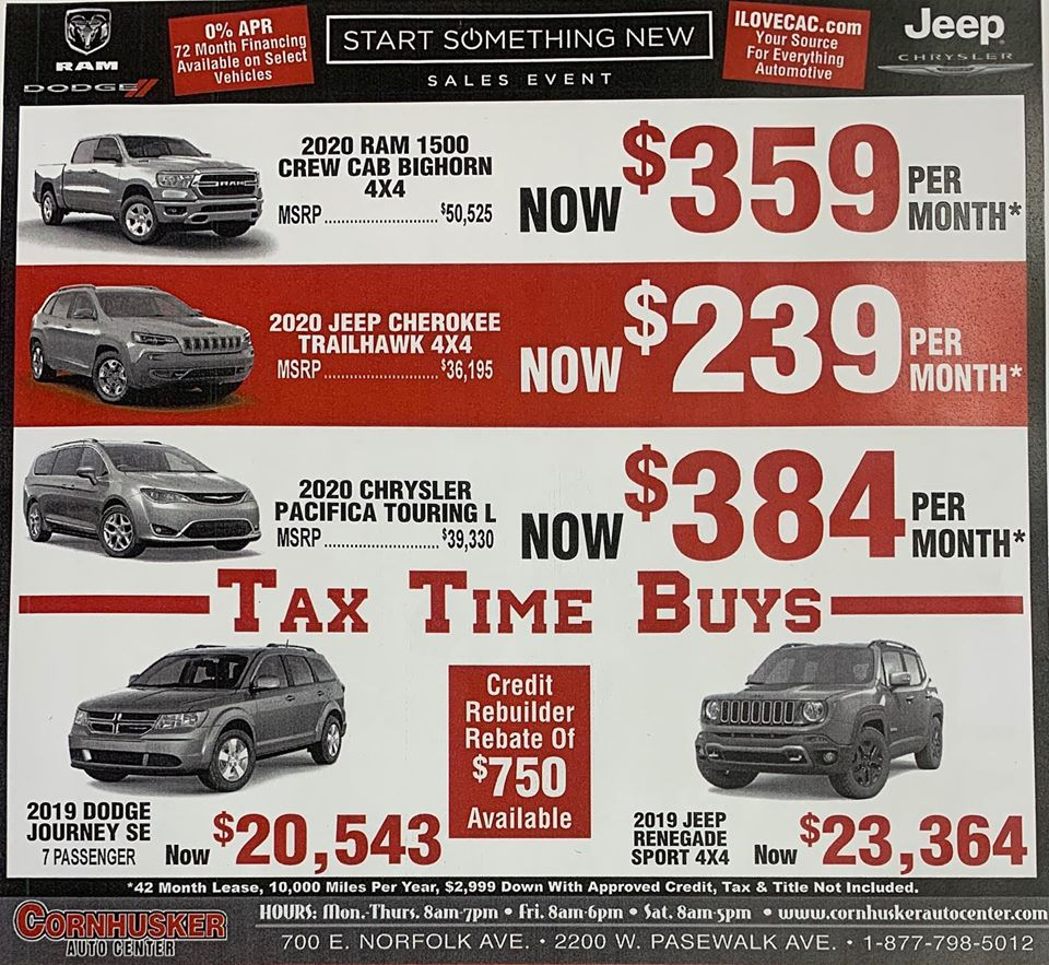 Black Friday Chrysler Dodge Jeep RAM specials