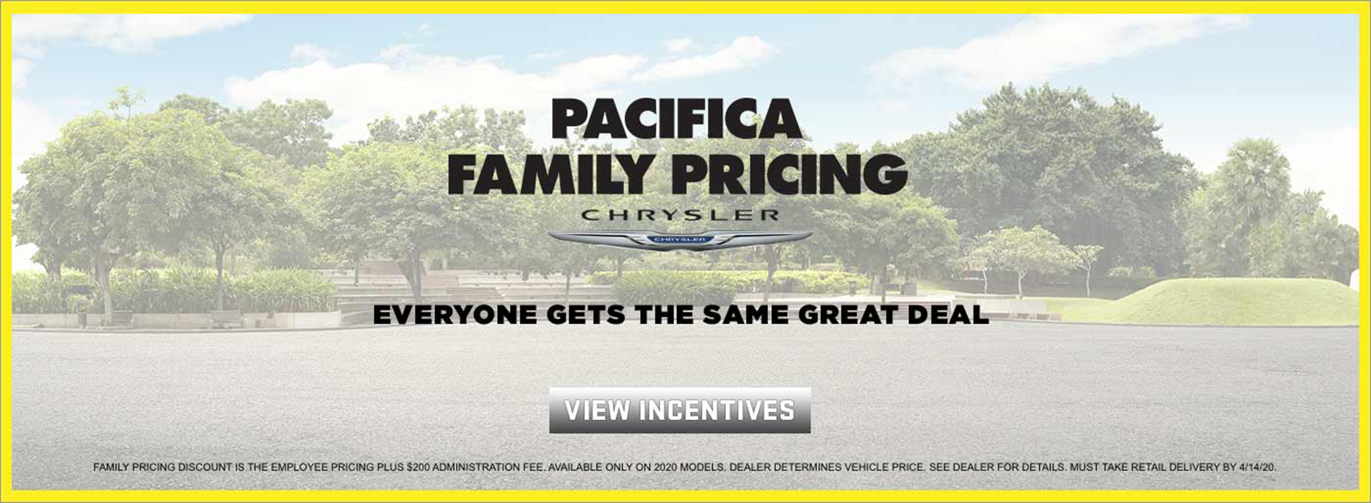 Chrysler Pacifica Family Pricing