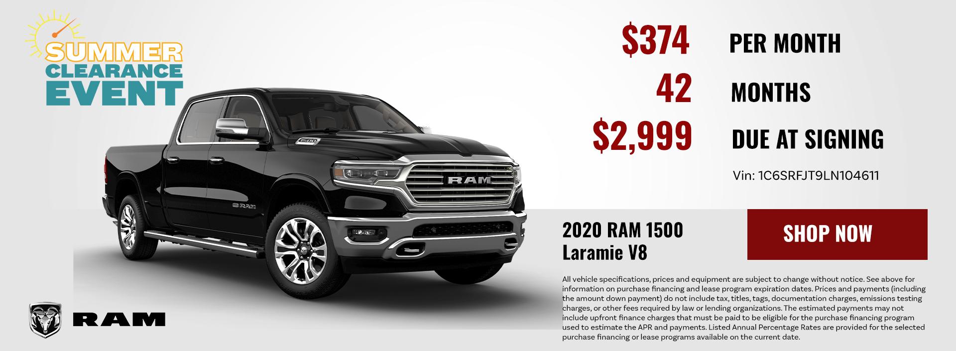 2020 RAM 1500 Laramie V8