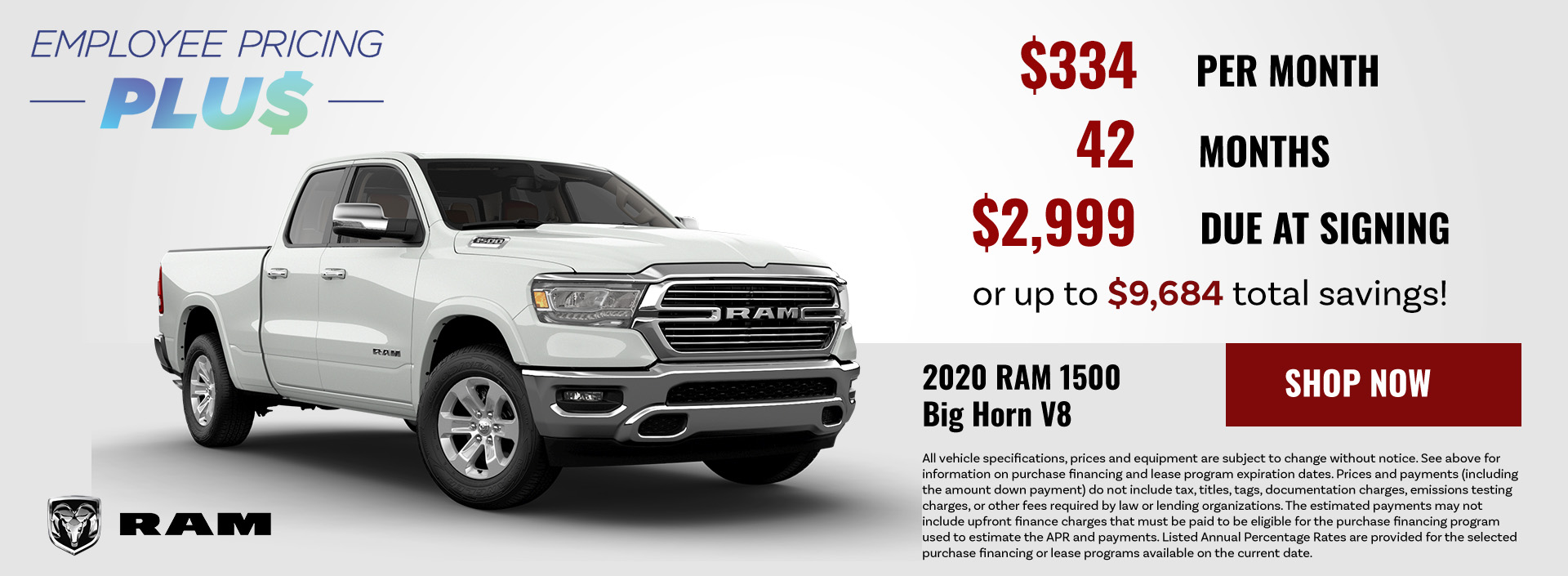 2020 RAM 1500 Big Horn V8